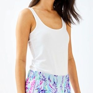 Lilly Pulitzer Tabbie Tank Top, White